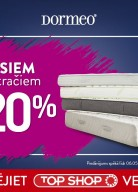 Top Shop: Visiem Dormeo matračiem -20%!