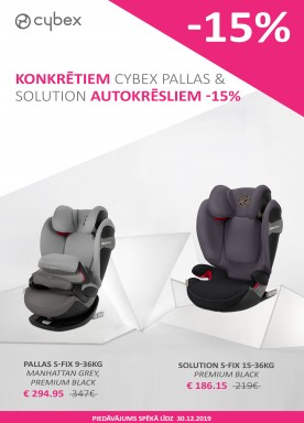 Selected Cybex Pallas & Solution car seats -15%
