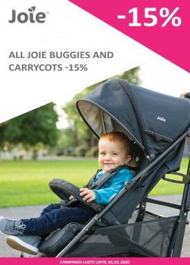 All Joie buggies and carrycots -15%