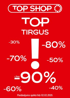 TOP Market Sale in TOP SHOP store, up to -90%
