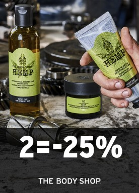 Hemp products: 2= -25%