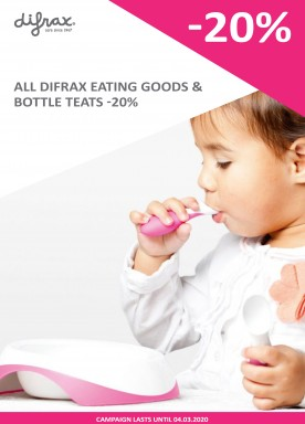 Difrax eating goods and bottle teats -20%