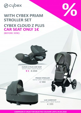 Buy Cybex Priam set and get Cloud Z for 1 EUR