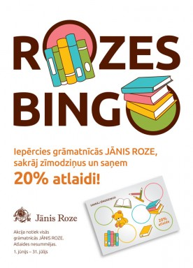 Shop at bookstore JĀNIS ROZE, collect stamps and get a 20% off!