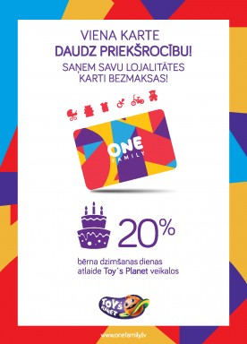 Best offers with One Family card!