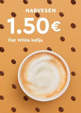 Flat White L coffee now for only €1.50!