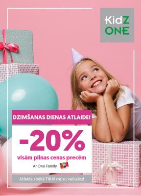 Your child's birthday discount with One Family card!