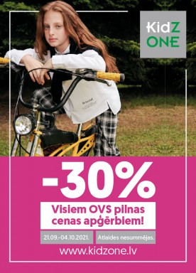 -30% discount for all OVS clothes!