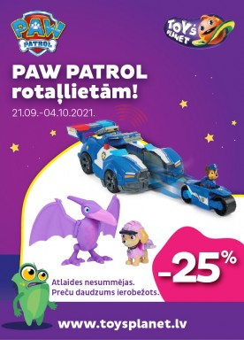 -25% discount for Paw Patrol toys!