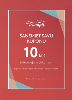 Shop and receive a COME BACK coupon 10 EUR!